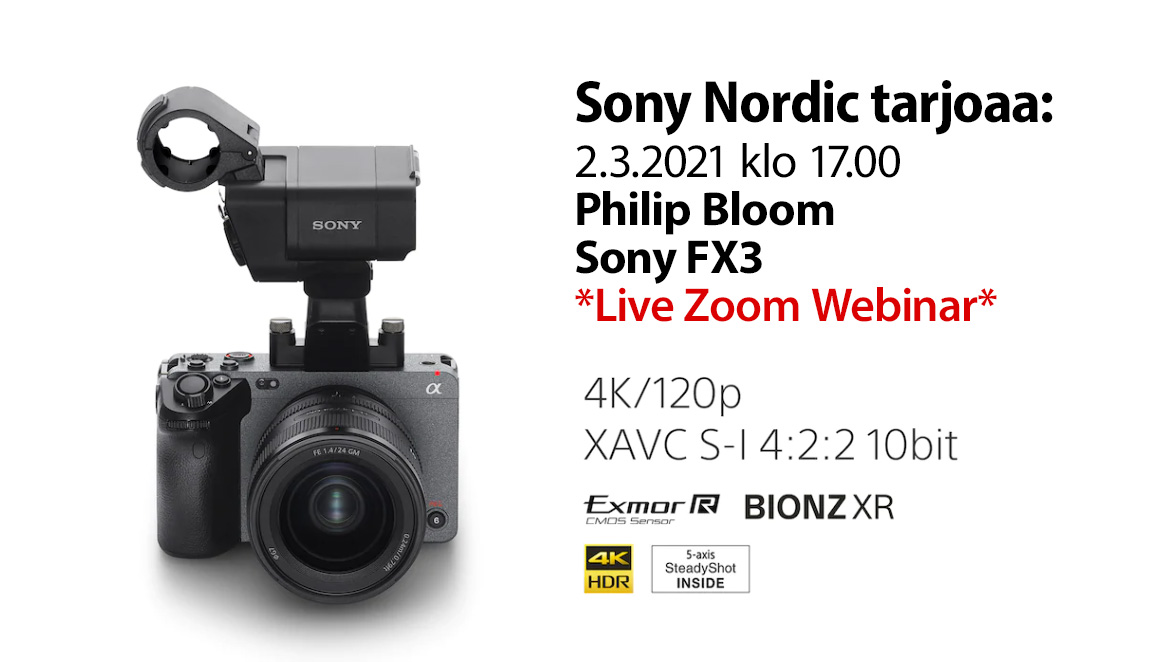 Philip Bloom – Sony FX3 – Live